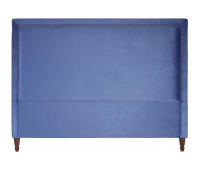 Block & Chisel persian blue upholstered king size headboard