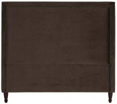 Block & Chisel brown upholstered queen size headboard