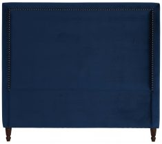 Block & Chisel navy blue upholstered queen size headboard