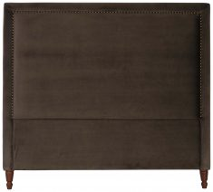Block & Chisel rosewood upholstered queen size headboard