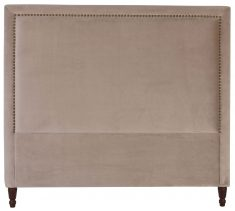 Block & Chisel grey upholstered king size headboard