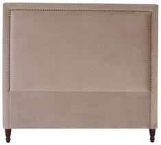 Block & Chisel grey upholstered queen size headboard