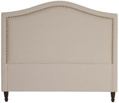 Block & Chisel beige upholstered queen size headboard