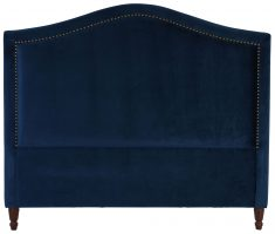 Block & Chisel navy upholstered king size headboard