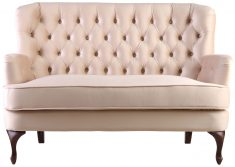 Block & Chisel camel upholstered loveseat