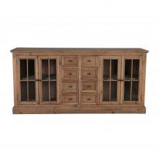 block and chisel sideboard with drawers and doors