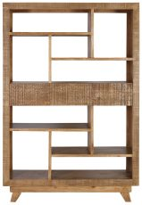 Block & Chisel mindi wood bookcase