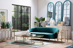 Block & Chisel modern sofa green