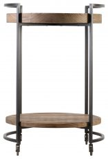 Block & Chisel Old Fir wood side table with metal frame