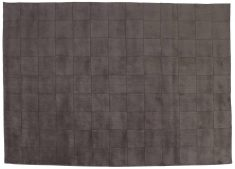 Block & Chisel grey square detailed wool rug