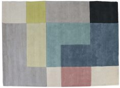 Block & Chisel multi-coloured wool rug