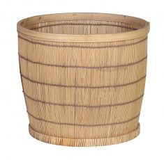 Medium Edwina Basket - bamboo round basket