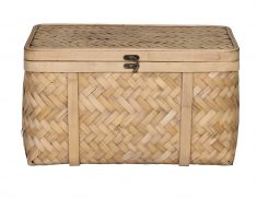 Mary Ann Bamboo Basket - Medium - storage container