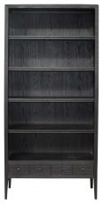 Block & Chisel Black Painted Oak Bookcase w/shelving & Draws