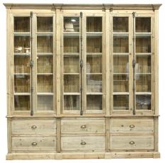 Block & Chisel glass door bookcase