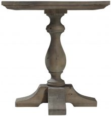 Block & Chisel square occasional table with parque inlay top