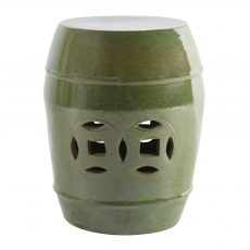 Spring green cut out ceramic stool