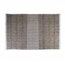 Destiny rug with mustard and rust detail