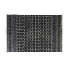 Destiny rug with black and mustard detail