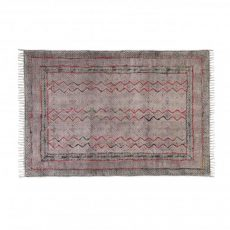 destinty rug in red and black
