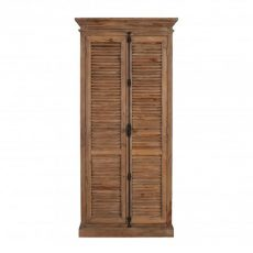 block and chisel louvred elm cabinet