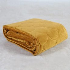 Quilted throw in sulphur