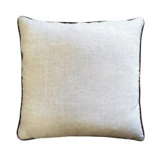 RED DRAGON CUSHION WITH LINEN BACK