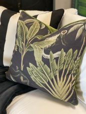 Hillhouse scatter cushion monkeys on charcoal