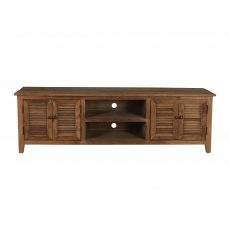 Elm TV unit with 4 doors and middle shelf