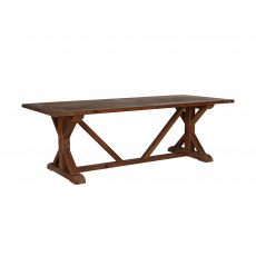 Pine dining table with middle beam.