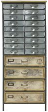 Block & Chisel fir wood chest of drawers with metal frame