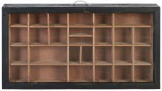 Block & Chisel rectangular fir wood shelving cabinet