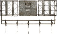 Block & Chisel iron wall hanging with hooks