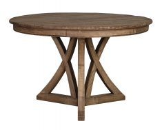 Old elm round dining table