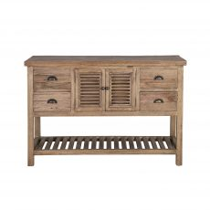 reclaimed wood console with storage