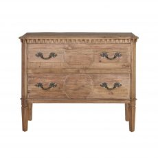 reclaimed wood 2 drawer chest of drawers