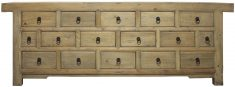 Block & Chisel 16 drawer wooden sideboard