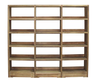 Block & Chisel wooden bookshelf