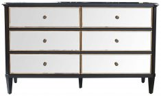 Block & Chisel mirrored 3 drawer chest