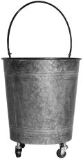 Block & Chisel galvanized zinc pot with handle