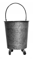 Block & Chisel galvanized zinc bucket with handle