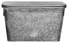 Block & Chisel galvanized zinc pot with lid