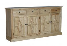 Terence Sideboard - reclaimed elm wood sideboard with 4 drawers and 4 doors