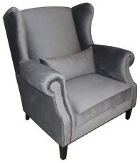 Block & Chisel grey velvet loveseat