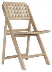 Block & Chisel weathered oak folding dining chair