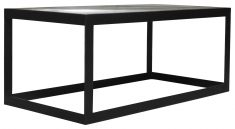 Block & Chisel rectangular mango wood top coffee table with metal frame
