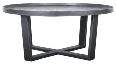 Block & Chisel round bronze top coffee table