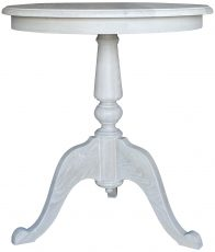Block & Chisel lamp table in solid white washed oak