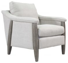 Block & Chisel linen upholstered occasional chair