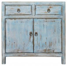 Block & Chisel turquoise Chinese wooden cabinet